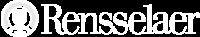 white RPI logo